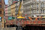 Stavba nového mostu u Bristolu v polovině července 2019