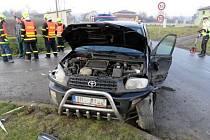 Nehoda opilého řidiče v Ludéřově