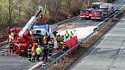 Tragická nehoda kamionu u Mohelnice zavřela ve čtvrtek po poledni dálnici D35