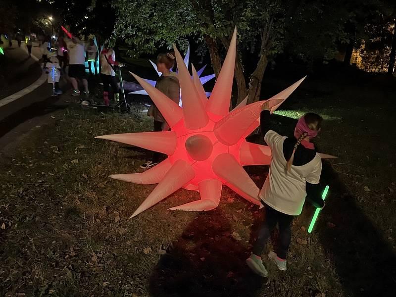 První ročník Neon Run v Olomouci, 8. října 2021