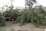 Škody napáchané silnou bouřkou na střední Moravě, 5.-6. 9. 2020