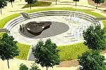 Vizualizace umístění modelu olomoucké pevnosti v Korunní pevnůstce. Zdroj - Muzeum olomoucké pevnosti