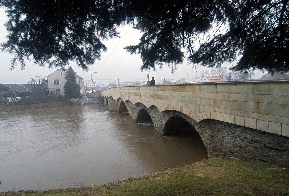 28. března 2006. Morava v Litovli