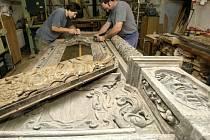 Restaurování renesančních dveří