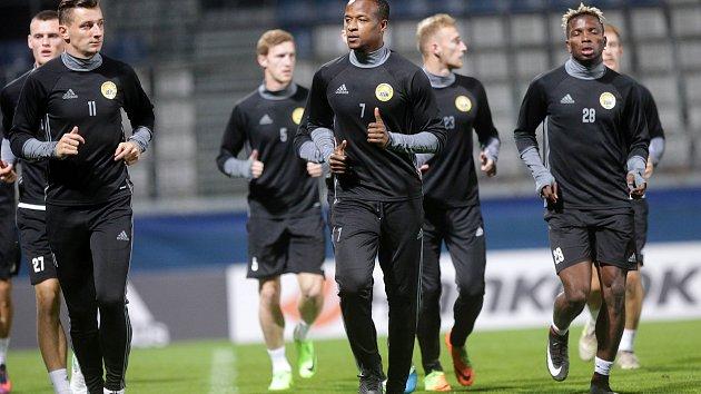 UEFA liga  FC Zlín tiskovka trénink