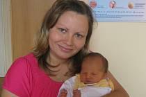 Jakub Křížek, Přerov, narozen 4. června v Olomouci, míra 50 cm, váha 3100 g