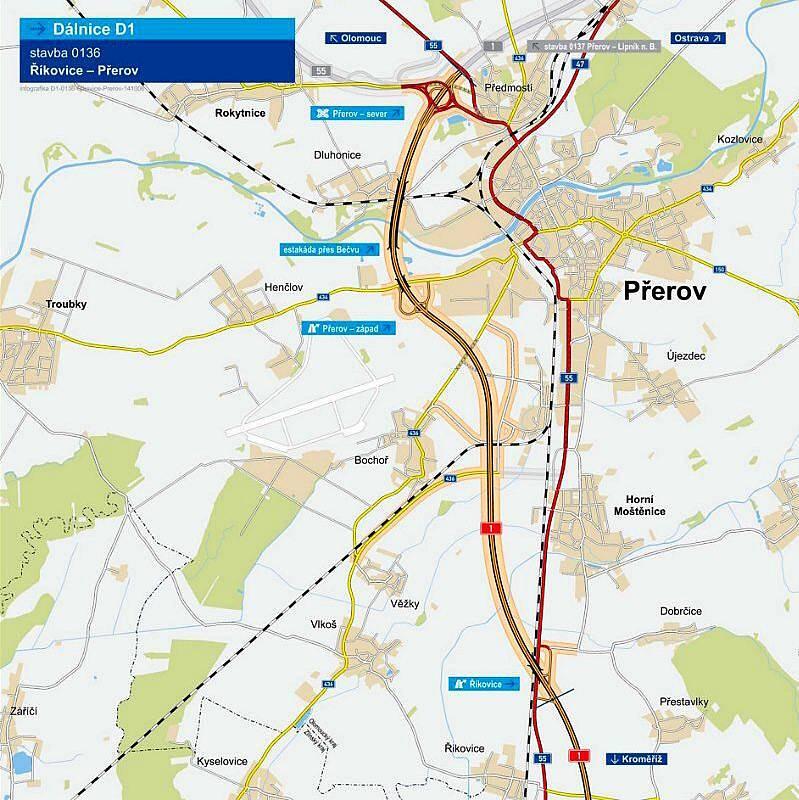 Dálnice D1 Říkovice-Přerov
