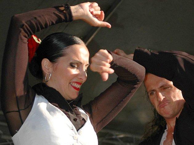 Flamencová fiesta na Horním náměstí v Olomouci