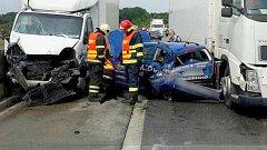 Hromadná nehoda na D35 u Dolního Újezdu, 16.6.2017