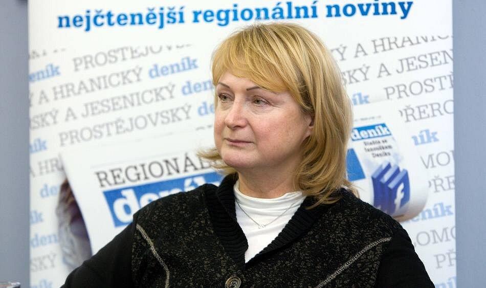 Jitka Seitlová při on-line rozhovoru pro Deník