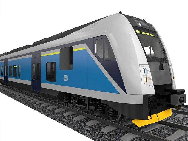 Třídílný nízkopodlažní vlak s plzeňské Škody Vagonka