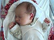 Matyáš Zabloudil, Dolní Sukolom, narozen 26. září ve Šternberku, míra 47 cm, váha 2630 g