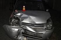 Následky nehody v Nasobůrkách