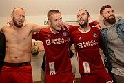 Olomoučtí fotbalisté slaví ve Znojmě návrat do první ligy