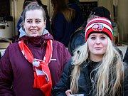 Fanynky Mory na čtvrtfinále play-off v Plzni