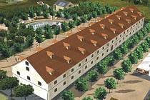 Vizualizace rekonstruovaného dělostřeleckého skladu pro Muzeum poznání v Korunní pevnůstce