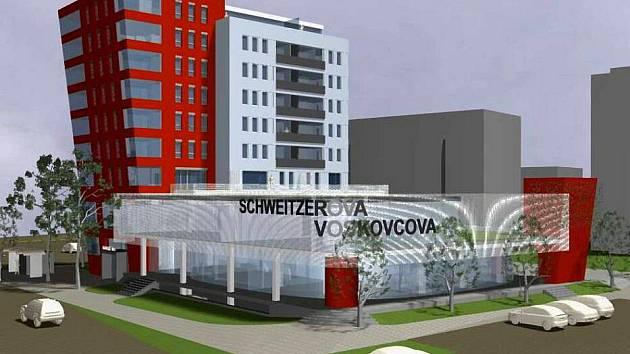 Polyfunkční dům Nároží, který by měl vyrůst na sídlišti Nové Sady v Olomouci