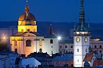 Chrám sv. Michala a věž olomoucké radnice. Ilustrační foto