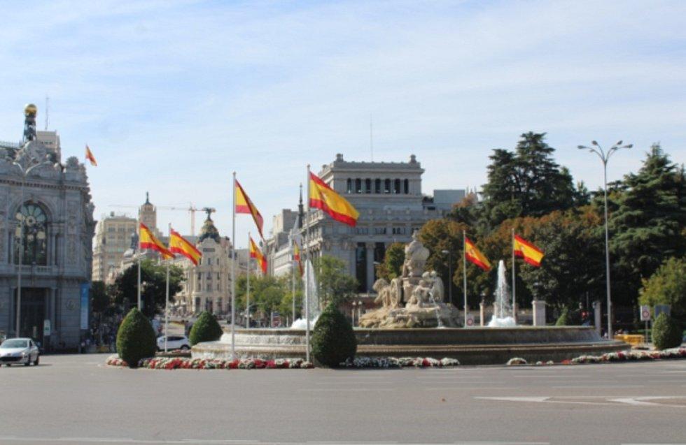 Náměstí Cíbeles, ústřední bod Madridu se sochou věštkyně Kybelé