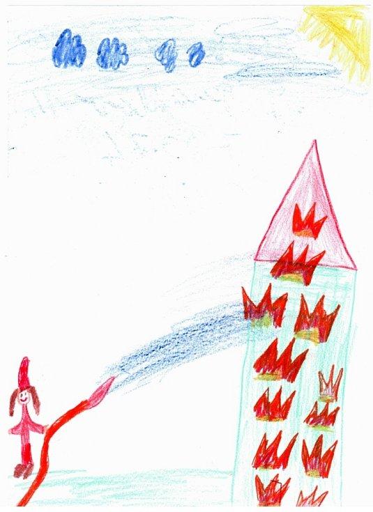 Alžběta Gregorová, 7 let, chce být hasičkou