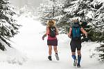 Neděle na Lysé hoře v Beskydech. 7. února 2021.
