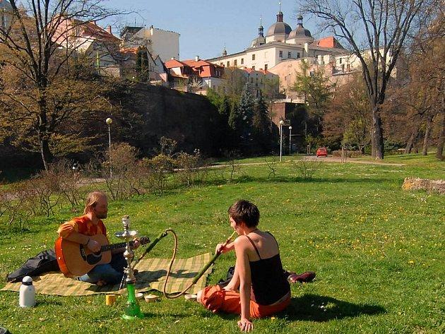 Olomoucké parky - piknik v Bezručových sadech