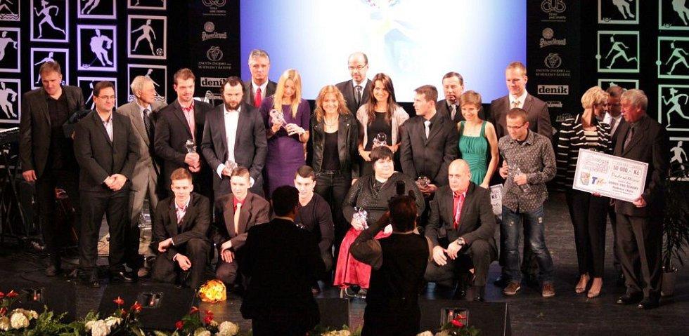 Vyhlášení Sportovce Olomouckého kraje za rok 2014 v Městském divadle v Prostějově