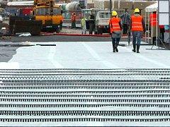 Stavba nové tramvajové trati v Olomouci. Ilustrační foto