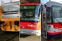 Vlakem, autobusem i tramvají v Olomouckém kraji na jednu jízdenku