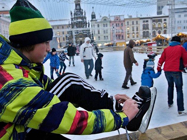 Bruslení na Horním náměstí v Olomouci