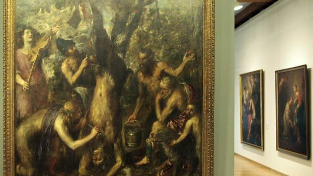 Tizian: Apollo a Marsyas v olomouckém Muzeu umění