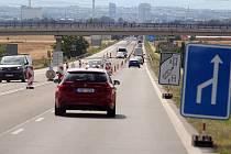 Opravy čtyřproudé silnice mezi Olomoucí a Přáslavicemi