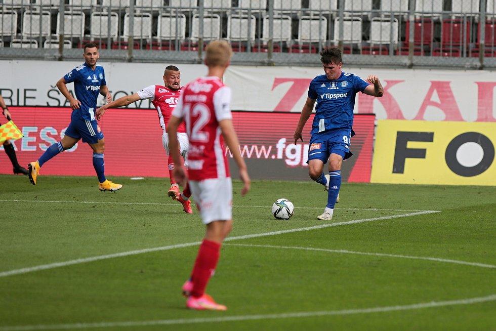 Olomoučtí fotbalisté porazili doma Pardubice 3:2 (1:1)Pavel Zifčák
