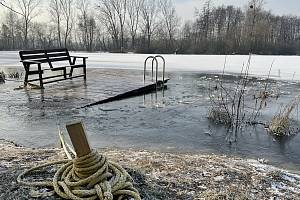 Mráz na Poděbradech, 18. ledna 2021