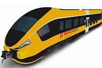 Souprava PESA, kterou RegioJet plánuje nasadit na trať Olomouc - Krnov
