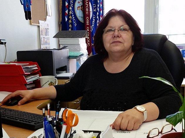 Vlastimila Švubová, starostka medlovských hasičů a starostka Okresního sdružení hasičů Olomouc.