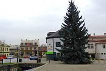 Vánoční strom ve Velké Bystřici