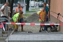 Oprava chodníku v Jeremenkově ulici