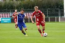 Fotbalisté SK Sigma Olomouc zvítězili ve třetím kole MOL Cupu ve Vlašimi 2:1. Ondřej Zmrzlý (vpravo).