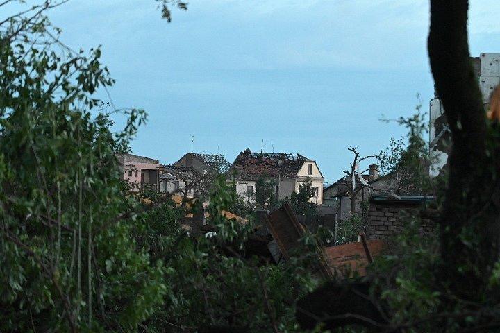 Následky tornáda v Moravské Nové Vsi