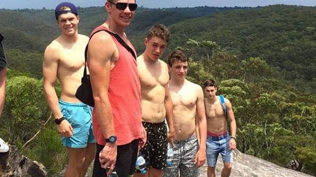 Václav Chaloupka (vlevo) na reprezentačním soustředění v australském Penrithu