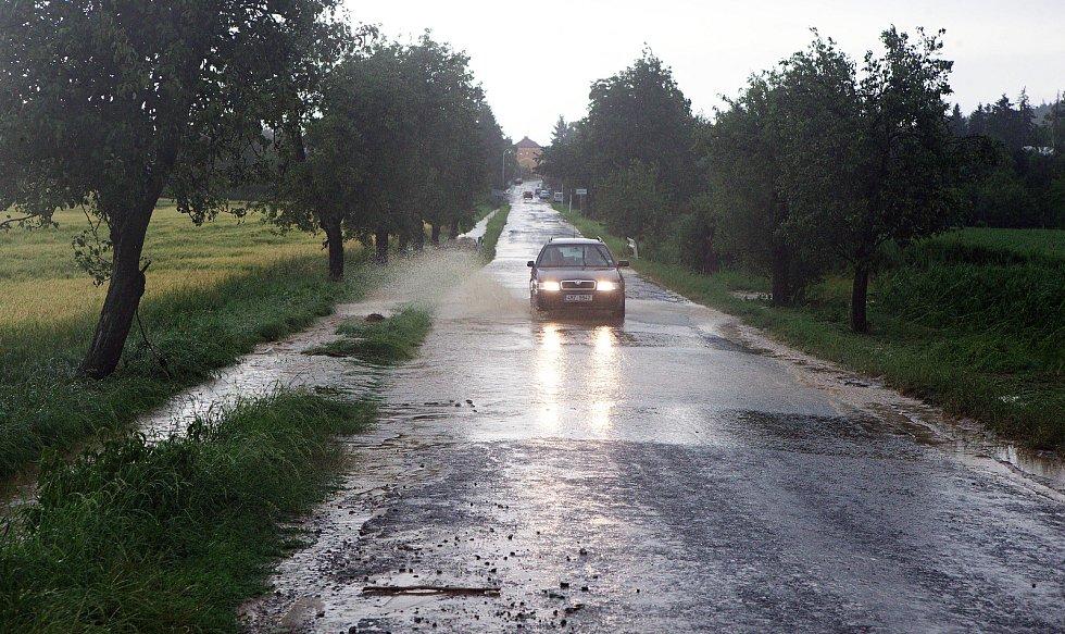 Loučka. Následky bouřky 1.7.2019