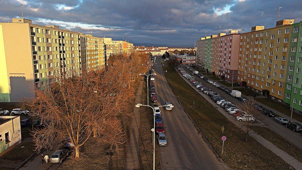 Zikova ulice - tudy povede tramvaj