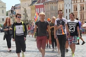 Rainbow Pride - první průvod lidí s menšinovou sexuální orientací v Olomouci