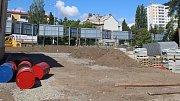 Stavba nového hřiště u ZŠ Mozartova v Olomouci