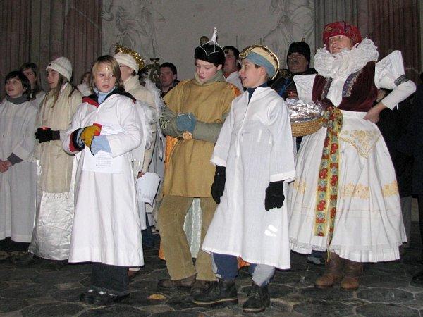 Živý betlém ubaziliky na Svatém Kopečku