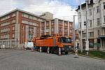 Začala oprava ulice 8. května v centru Olomouce - uzavřený vjezd z náměstí Hrdinů. 14. dubna 2020