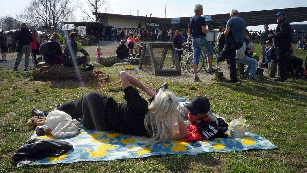 Olomoucké přírodní koupaliště Poděbrady, sobota 10. dubna 2021