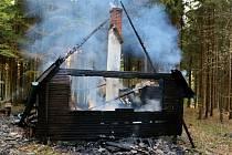 Požár tří chat u Jívové zřejmě způsobil žhář