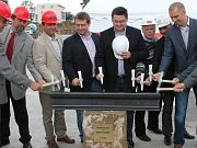 Slavnostní zahájení stavby tramvajové trati na Nové Sady v Olomouci